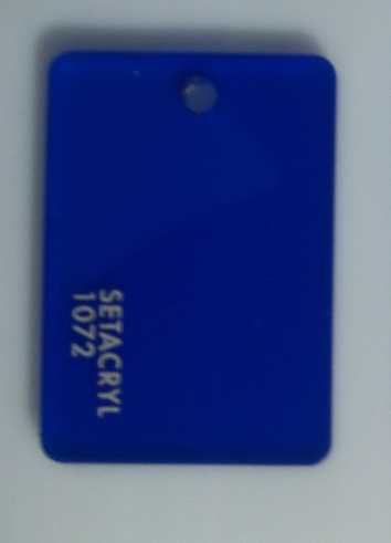 Transparent  Acrylic  1072 Royal Blue 3 mm