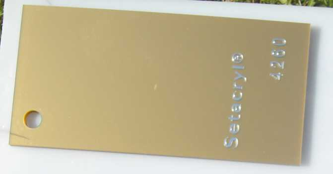 Metallic  Acrylic  4260 Antique Gold 3 mm