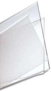 Clear acrylic sheet 10 mm 24 ins x 24 ins