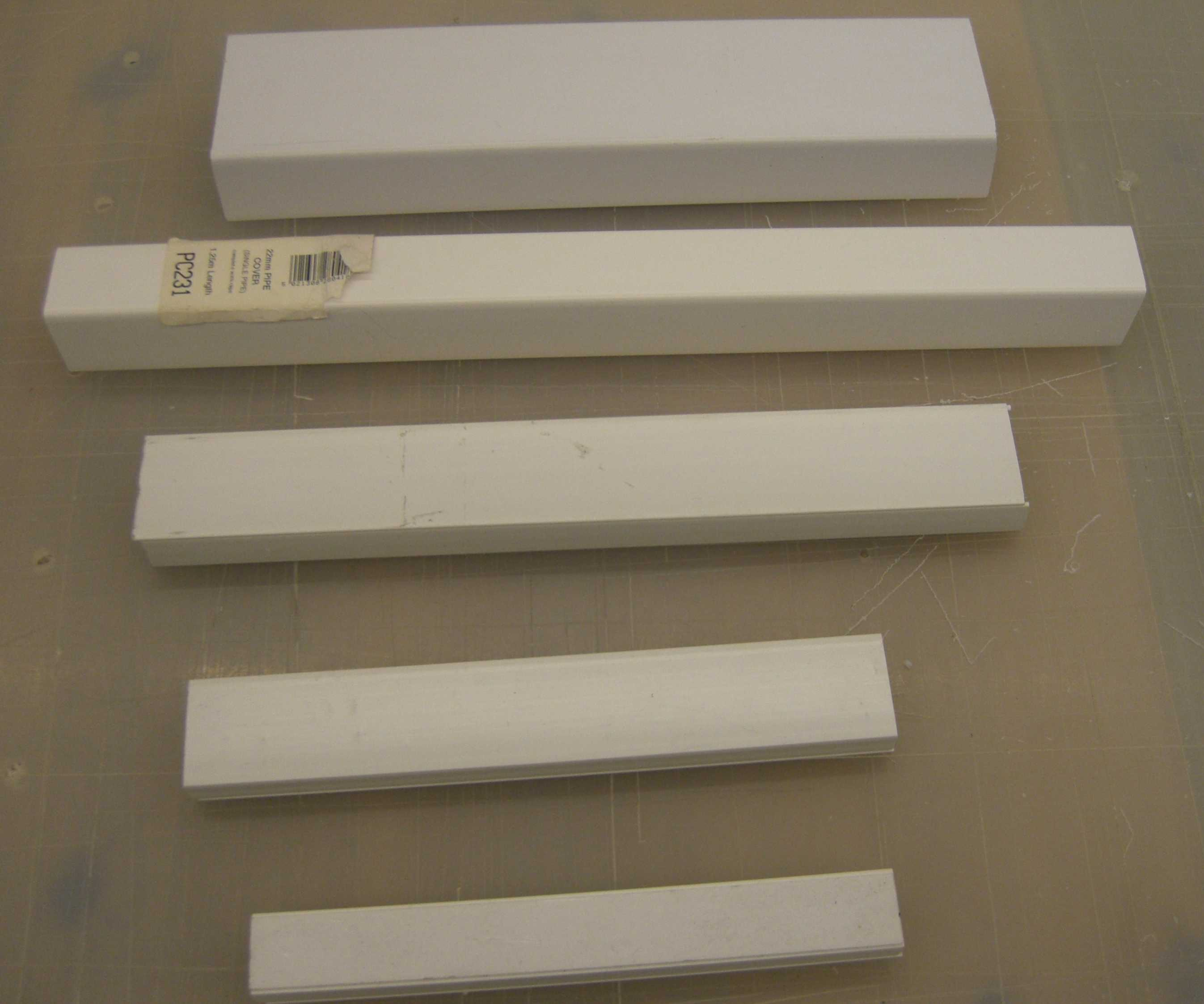 Electrical Mini Trunking  16mm Flat Angle