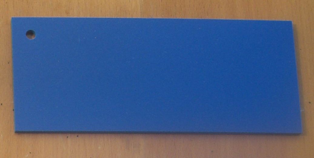 Pvc Standard Coloured Foam Sheet 503 Blue 3 mm 2440 mm  1220 mm