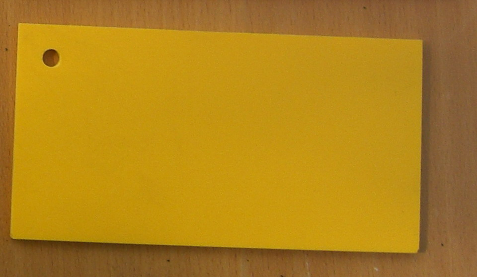 Pvc Standard Coloured Foam Sheet 105 Yellow 5 mm 3050 mm 1560 mm