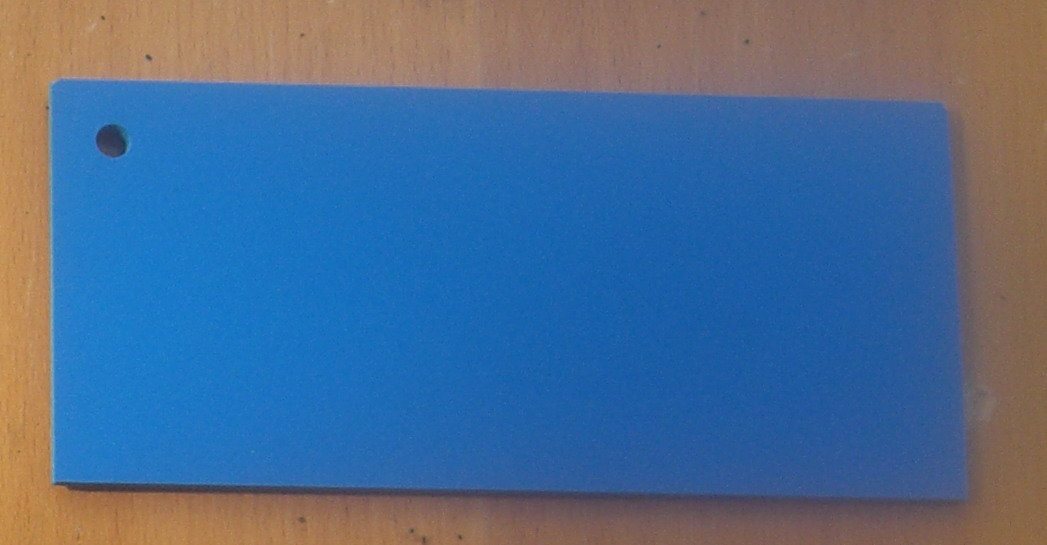 Pvc Standard Coloured Foam Sheet 504 Blue 3 mm 2440 mm  1220 mm