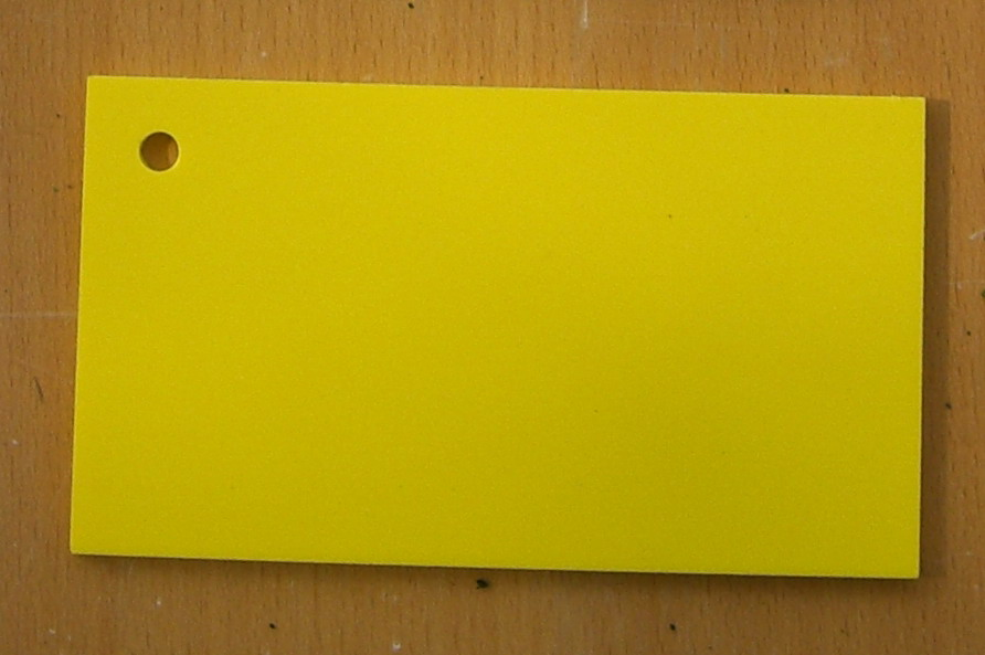 Pvc Standard Coloured Foam Sheet 104 Yellow 3 mm 2440 mm  1220 m