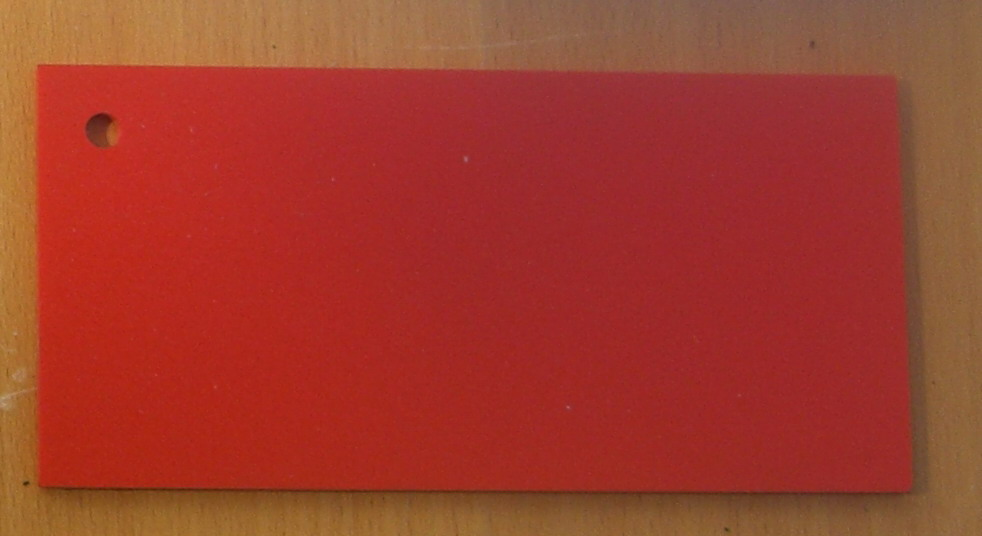 Pvc Standard Coloured Foam Sheet 302 Red 3 mm 2440 mm  1220 mm