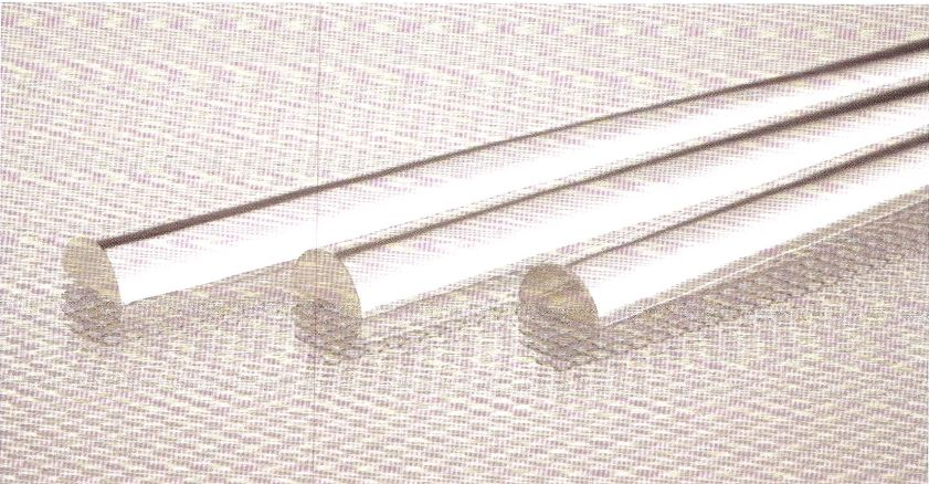 Extruded Acrylic Half Round rod 10 mm