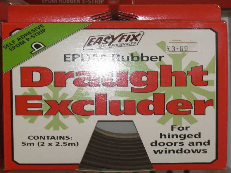 General Purpose Draught Excluder EPDM P Strip Brown