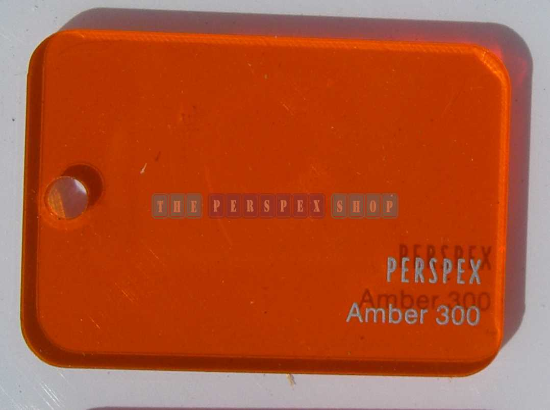 Perspex Cast Acrylic 3mm 2030 x 1525 Amber 300