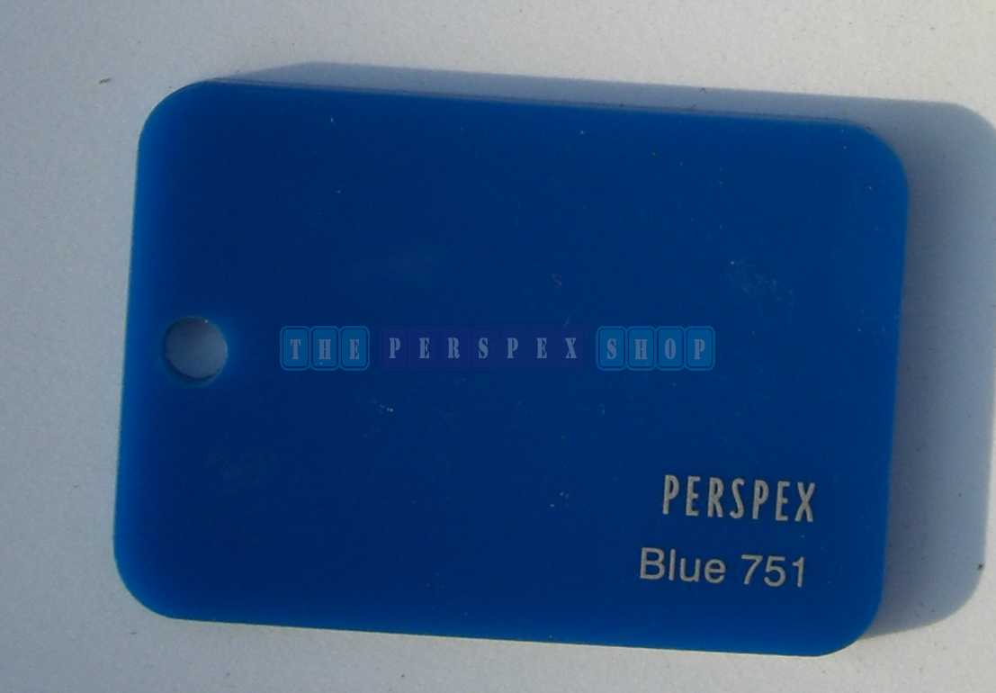 Perspex Cast Acrylic 3mm 2030 x 1525 Blue 751