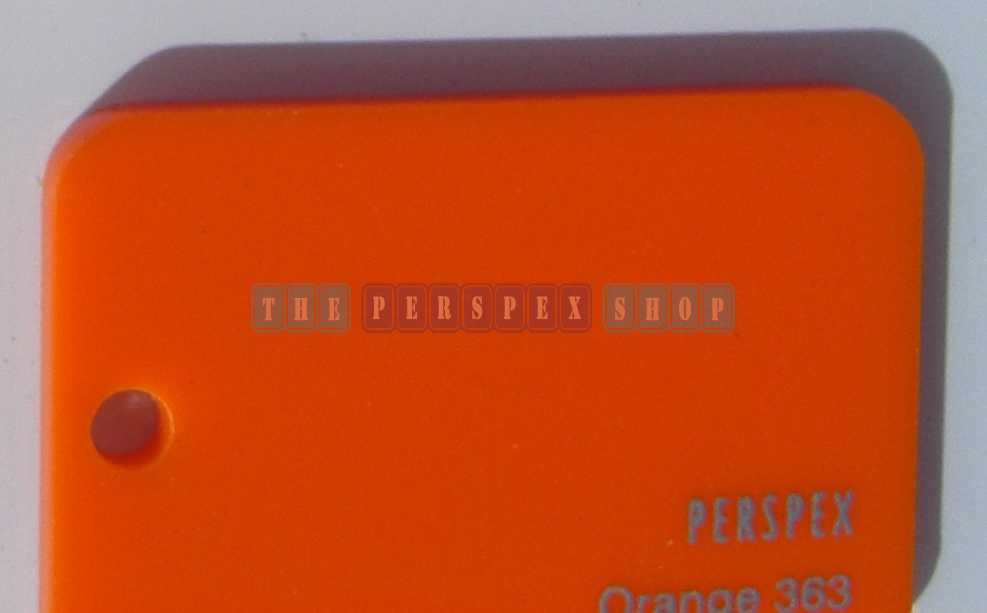Perspex Cast Acrylic 3mm 3050 x 2030 Orange 363