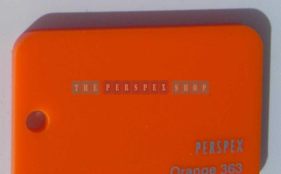 Perspex Cast Acrylic 3mm 2030 X 1525 Orange 363 Perpex33