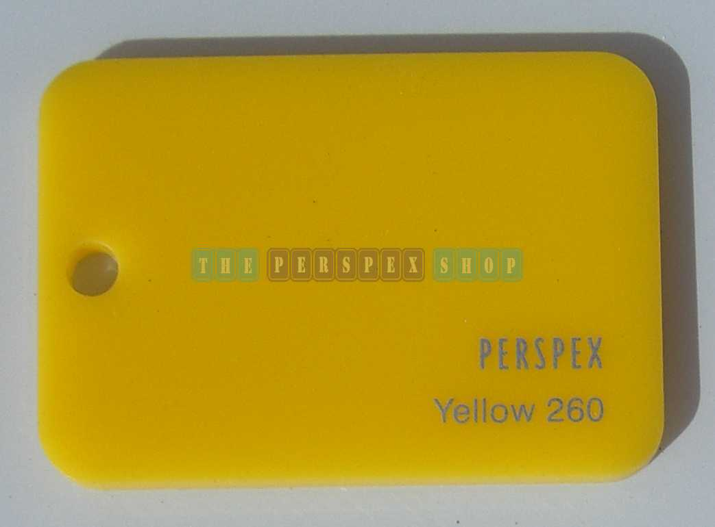 Perspex Cast Acrylic 3mm 2030 x 1525 Yellow 260