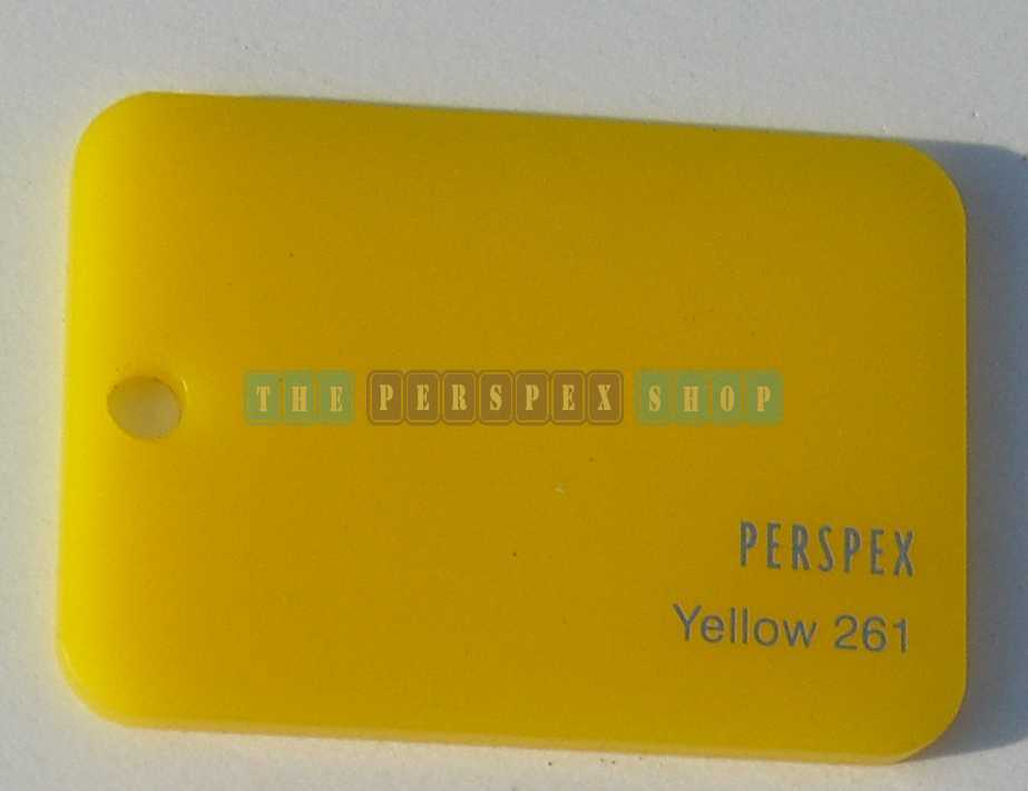Perspex Cast Acrylic 3mm 2030 x 1525 Yellow 261