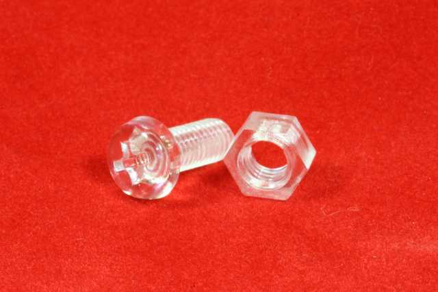 M4 x 12mm long acrylic bolt