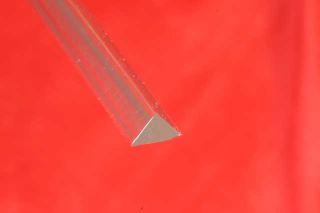 Extruded Acrylic Triangle 15x15x15 mm