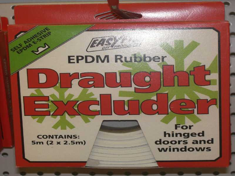 General Purpose Draught Excluder EPDM E Strip White